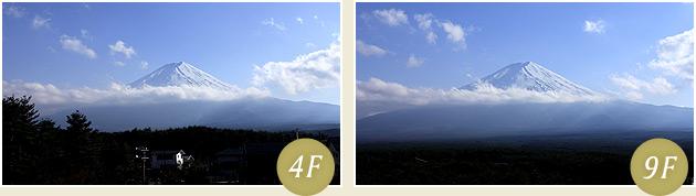 客室からの富士山(イメージ)4F・9F